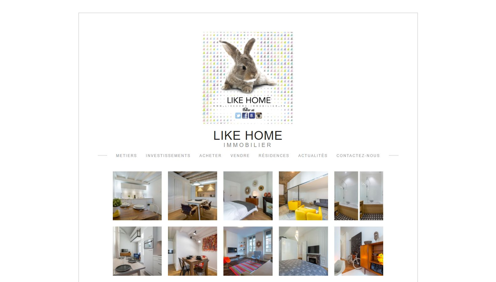 Réalisation RP2I (Romaric Pibolleau): LikeHome Immobilier - Site CMS